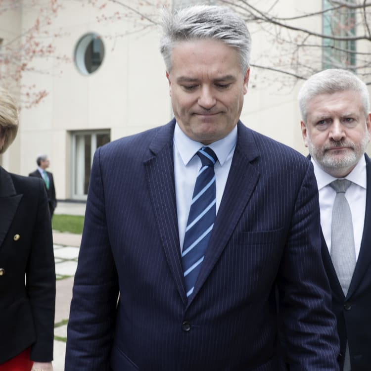 Michaelia Cash, Mathias Cormann and Mitch Fifield announce their resignations from the Turnbull ministry.
