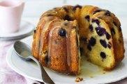 Helen Goh's lemon and blueberry cream cheese  pound cake.