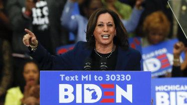 Joe Biden's running mate, Kamala Harris.