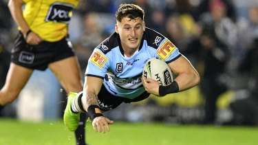 Bronson Xerri is two decades younger than Cronulla stalwart Paul Gallen.
