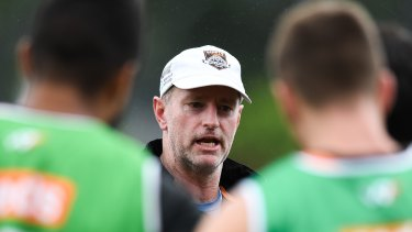 Troubling times: Wests Tigers coach Michael Maguire has had a tough year at the club as issues have surfaced with Ryan Matterson, Josh Reynolds and Russell Packer.