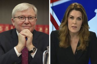 Former prime minister Kevin Rudd has welcomed an on-air apology from Sky News commentator Peta Credlin.