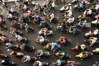 The dense traffic is another contributor to noise levels in Vietnam's largest city.