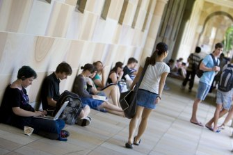 Foreign students make up 13 per cent of Australia's university enrolments.