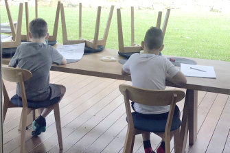 Sydney children adjust to a new school environment.