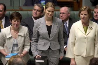 Kate Ellis on the day of her first swearing-in as an MP in 2004.