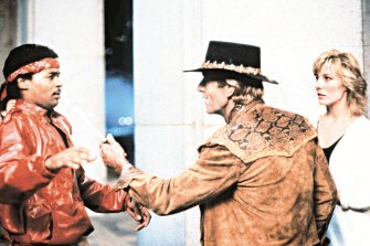 Crocodile Dundee, with its famous 'that's not a knife' scene, made him a megastar globally in the 1980s.