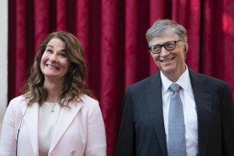 Melinda and Bill Gates.