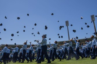 NSW Police Force classes of 2020 Attestation Parade at Sydney Cricket Ground. 4th December 2020 Photo Louise Kennerley SMH