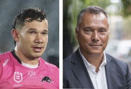 Penrith winger Brent Naden and Indigenous broadcaster Stan Grant are related.