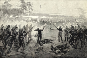1854  Eureka rebellion. The attack on the Eureka Stockade on 3 December 1854.