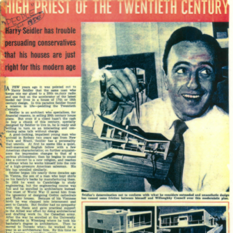 Harry Seidler in People Magazine in the 1950s.