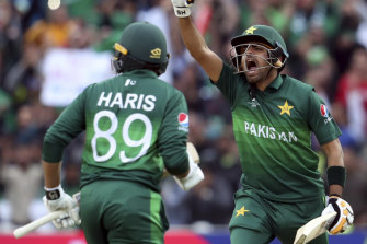 Force to be reckoned with: Babar Azam, right, looms.