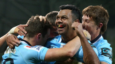 Tahs talisman: Kurtley Beale at his best is nimble, athletic and unpredictable.