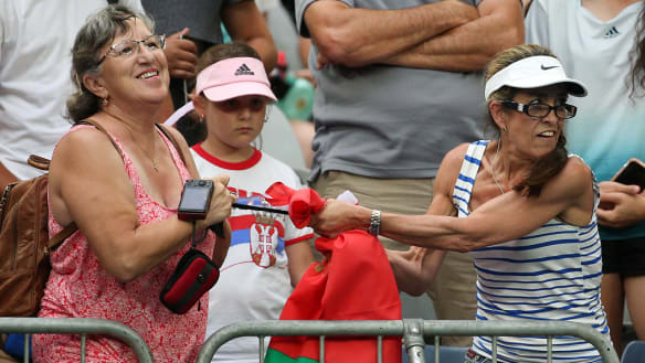'It went on for about five minutes': Australian Open fans evicted after tussle over sweaty headband