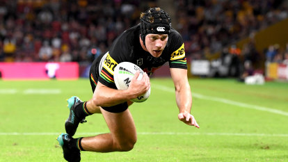 NRL 2021 as it happened: Penrith Panthers survive huge scare to beat Brisbane Broncos 20-12