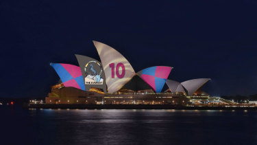 Approved: The Racing NSW promotion to be beamed onto the Opera House.