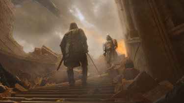 A date with destiny: The Hound and The Mountain prepare to face off.