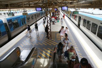Commuter numbers are thinning out on suburban services.