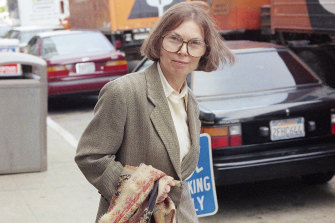The New Yorker writer Janet Malcolm leaving the Federal Courthouse in San Francisco in 1993.