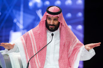 The US implicated Crown Prince Mohammed bin Salman, pictured, in the killing of journalist Jamal Khashoggi.