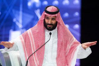 The US implicated Crown Prince Mohammed bin Salman, pictured,  in the killing of journalist Jamal Khashoggi.