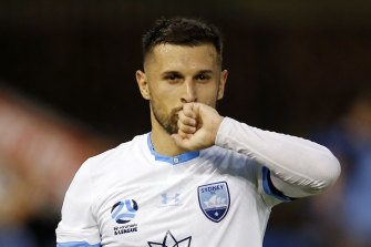 Kosta Barbarouses returns to AAMI Park on Friday night for the first time as a Sydney FC player.