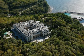 Vladimir Putin's alleged lavish mansion on the Black Sea coast.