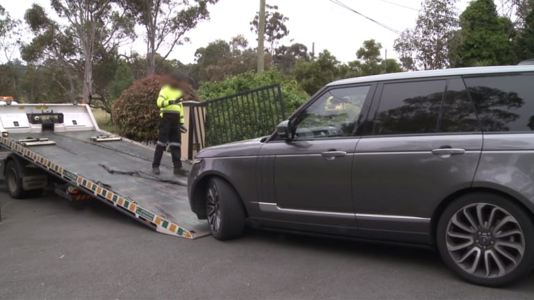 Cars were among the luxury goods seized in raids on November 14 and 15.