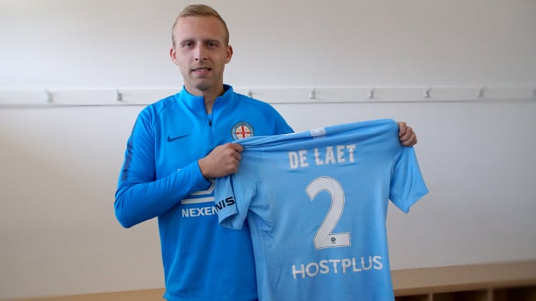 Melbourne City signing Ritchie De Laet.