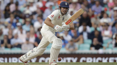 Finale: England's Alastair Cook during his last ever batting innings before retiring.