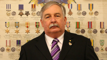 Former state RSL president Don Rowe, pictured in 2008.