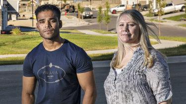 Maree de Marco and Mohammad Noor near her home in Salt Lake City.