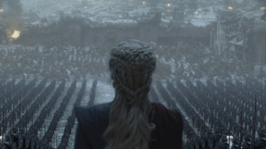 Daenerys Targaryen (Emilia Clarke) in the finale episode of Game of Thrones.