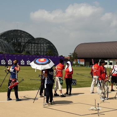 Yumenoshima Park Archery Field.