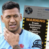'Unacceptable': Fresh posts put Folau on collision course with Rugby Australia