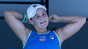 Bit of a stretch: Australia's darling, Ash Barty.