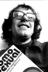Dennis Altman at 28, at a launch party for his 1972 book, Homosexual: Oppression and Liberation.