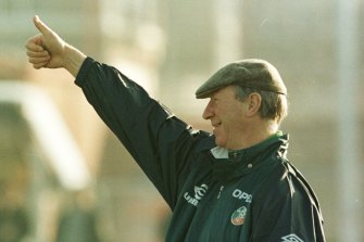 Jack Charlton as Ireland manager in 1995.