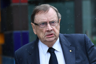 Former Tennis Australia director Harold Mitchell leaves the Federal Court in November.
