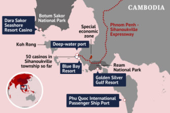 National parks are no barrier to development around Sihanoukville.