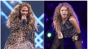 Jennifer Lopez (left) and Shakira will team up for this season's Super Bowl half-time show.