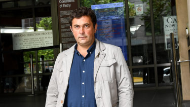 Stefce Kutlesovski, one of two developers who had his fine for demolishing the Corkman Hotel cut in half.