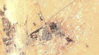 Saudi Aramco's Abqaiq oil processing facility in Buqyaq, Saudi Arabia.
