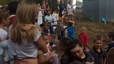 The rally was held in the hopes of convincing Mundaring Sharing to transfer  lease responsibilities to Little Possums Daycare.