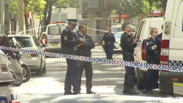 """Police are investigating an allegedly """"targeted"""" double stabbing in Chippendale on Saturday morning."""