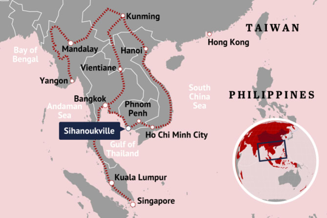 An Indo-China economic corridor, with a Kunming-Singapore rail line, is part of the Belt Road Road Initiative.