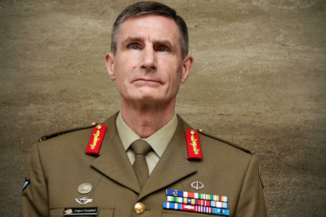 Army chief Angus Campbell.