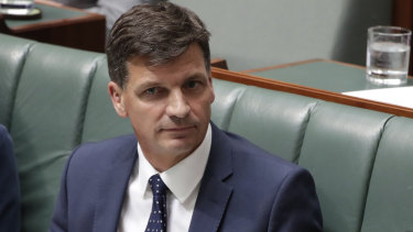 Angus Taylor said the report shows emissions are at their lowest level since 2015-16.