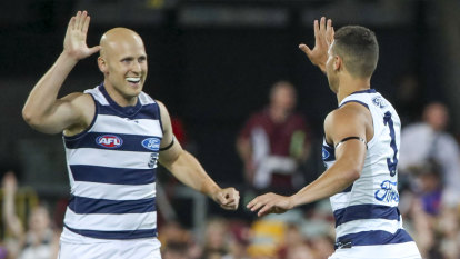 As it happened: Geelong Cats to face Richmond Tigers in 2020 grand final after thumping Brisbane Lions